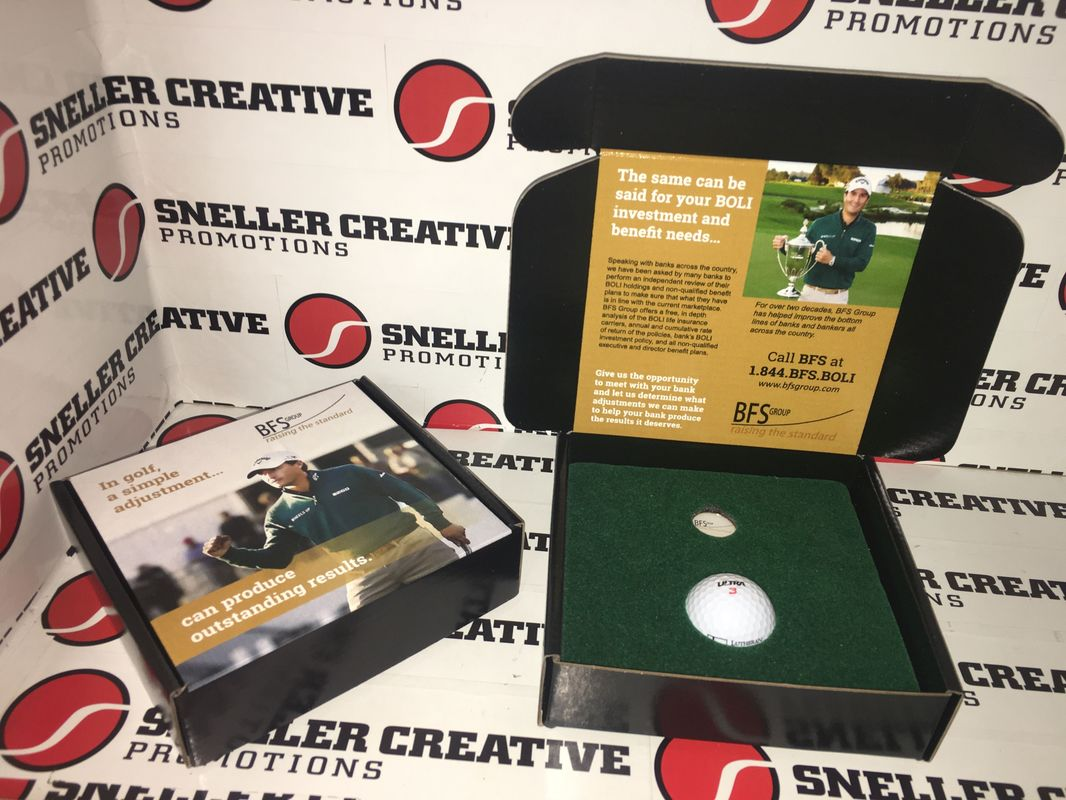 Custom Golf Tournament Invitation Boxes and Logo Products by Sneller