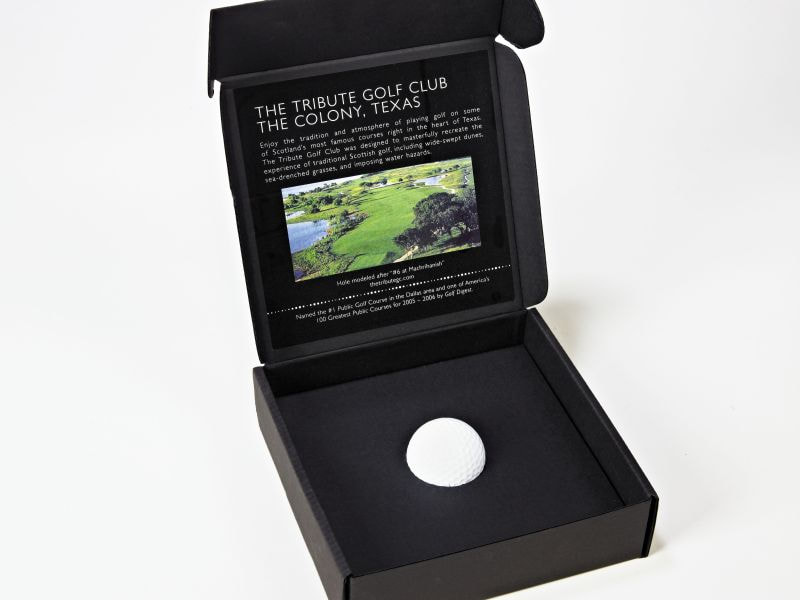 Sneller Creative Promotions - Golf Tournament Invitation Mailer Box